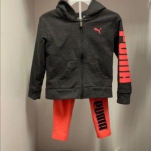 Puma 2T activewear pants & jacket set